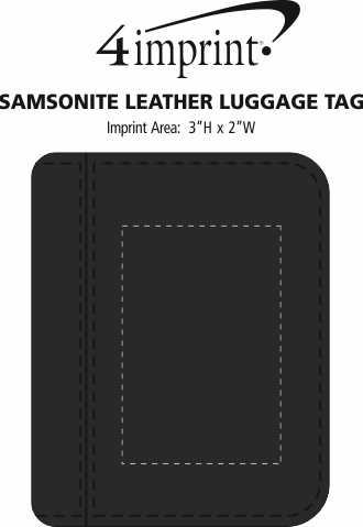 Imprint Area of Samsonite Leather Passport Wallet