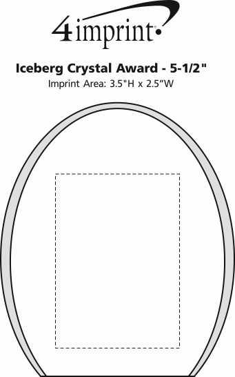 "Imprint Area of Iceberg Crystal Award - 5-1/2"""