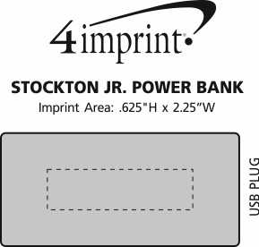 Imprint Area of Stockton Jr. Power Bank - 3600 mAh