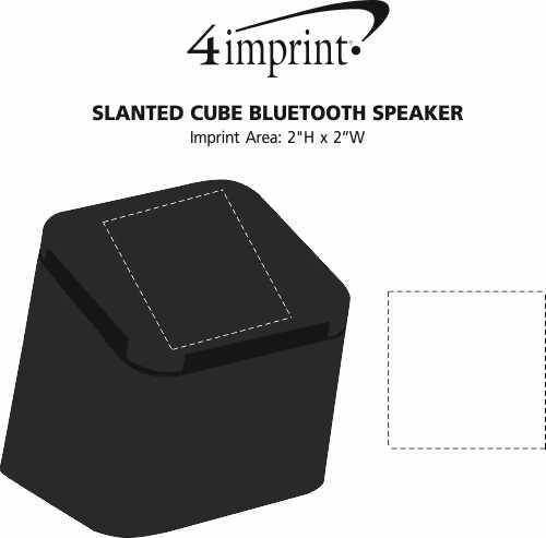 Imprint Area of Slanted Cube Bluetooth Speaker