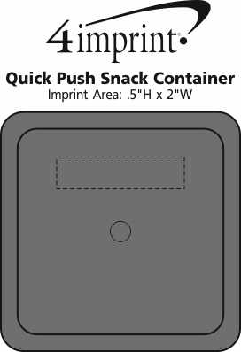 Imprint Area of Quick Push Snack Container