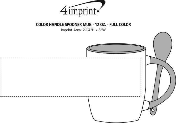 Imprint Area of Color Handle Spooner Mug - 12 oz. - Full Color