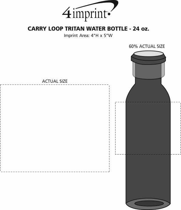 Imprint Area of Carry Loop Tritan Water Bottle - 24 oz.