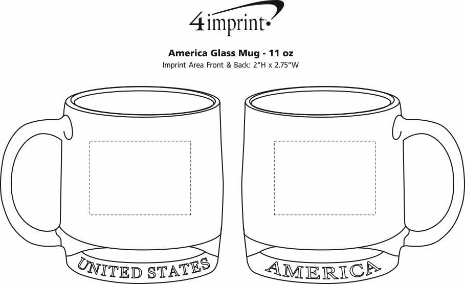 Imprint Area of America Glass Mug - 11 oz.