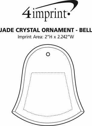 Imprint Area of Jade Crystal Ornament - Bell