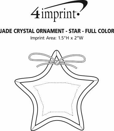Imprint Area of Jade Crystal Ornament - Star - Full Color