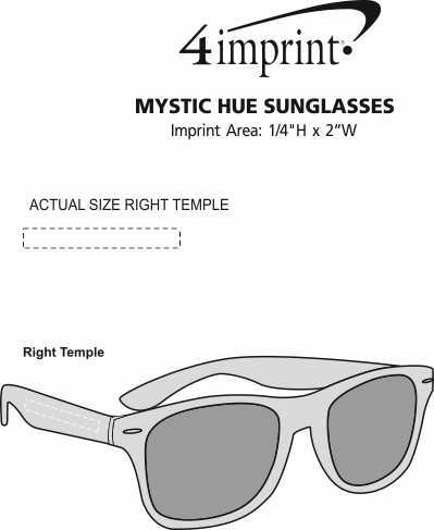 Imprint Area of Mystic Hue Sunglasses