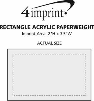 Imprint Area of Rectangle Acrylic Paperweight