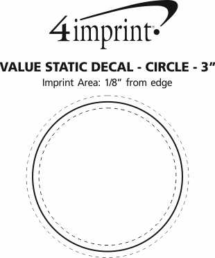 """Imprint Area of Static Decal - Circle - 3"""""""