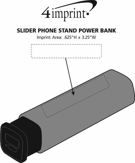 Imprint Area of Slider Phone Stand Power Bank