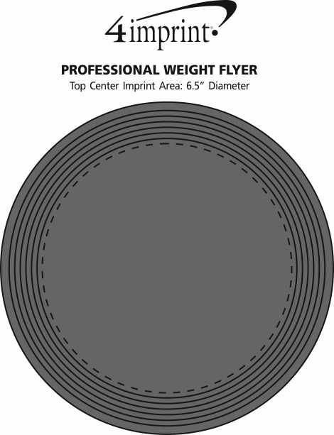 Imprint Area of Professional Weight Flyer