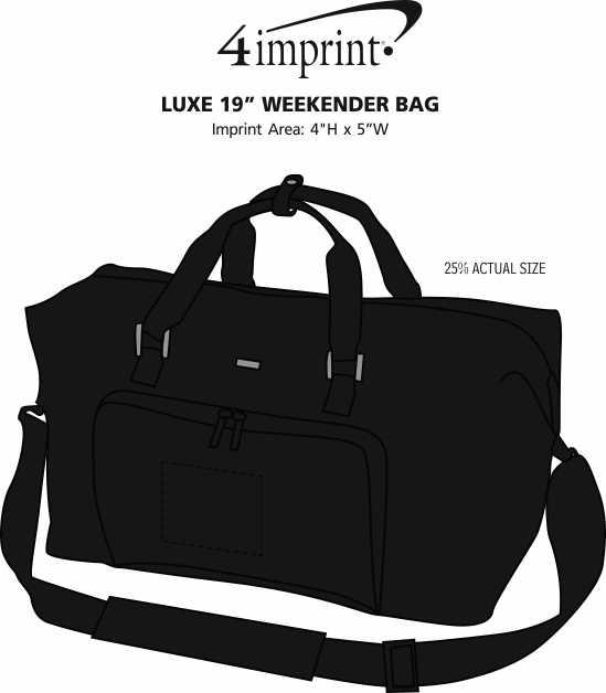 "Imprint Area of Luxe 19"" Weekender Duffel Bag"