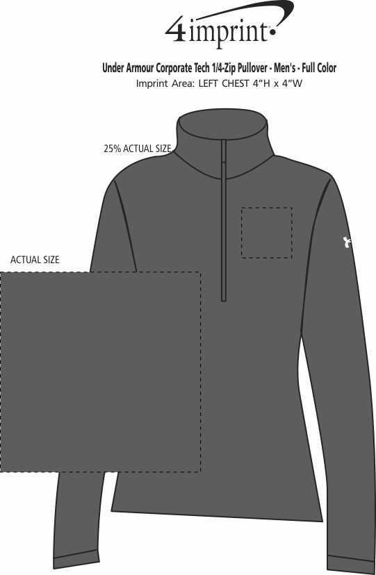 Imprint Area of Under Armour Corporate Tech 1/4-Zip Pullover - Men's - Full Color
