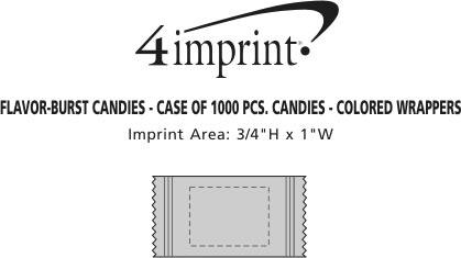 Imprint Area of FlavorBurst Candies - Fruit Assortment - Color Wrapper