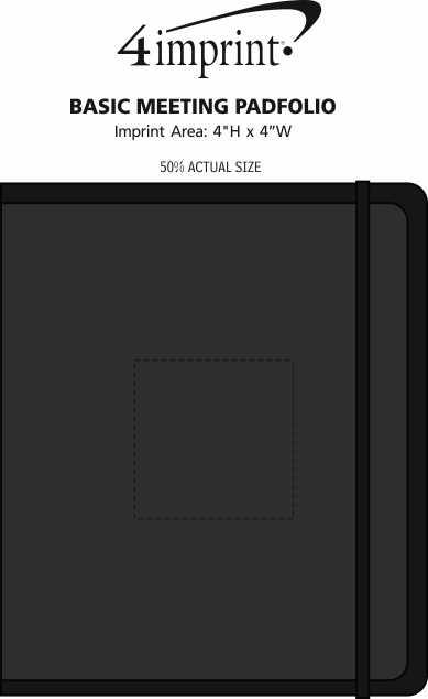 Imprint Area of Basic Meeting Padfolio