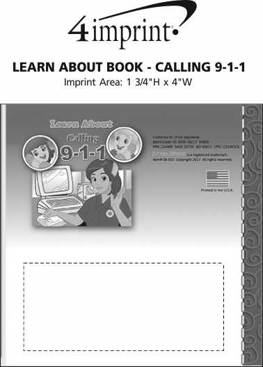 Imprint Area of Learn About Book - Calling 9-1-1