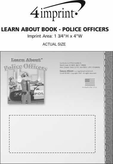 Imprint Area of Learn About Book - Police Officers