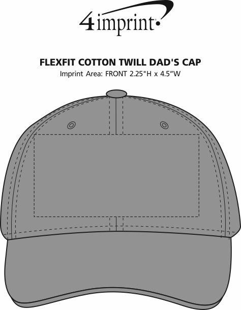 Imprint Area of Flexfit Cotton Twill Dad's Cap