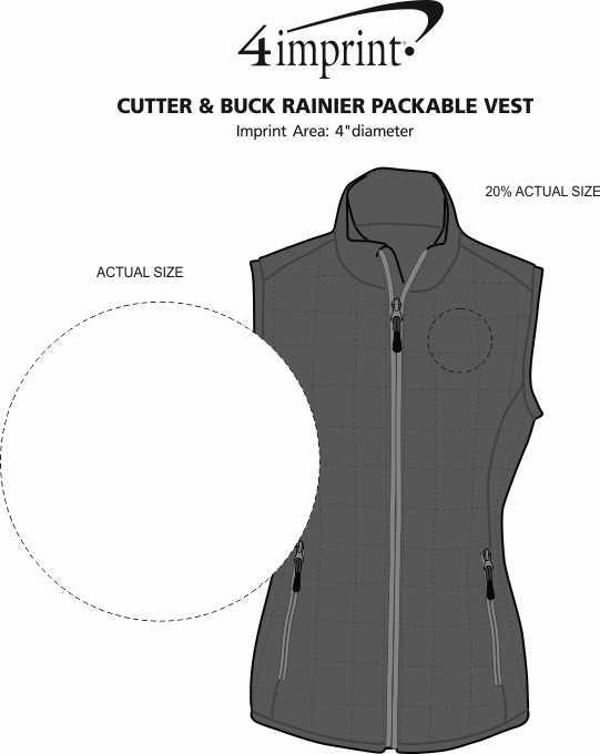 Imprint Area of Cutter & Buck Rainier Packable Vest - Ladies'