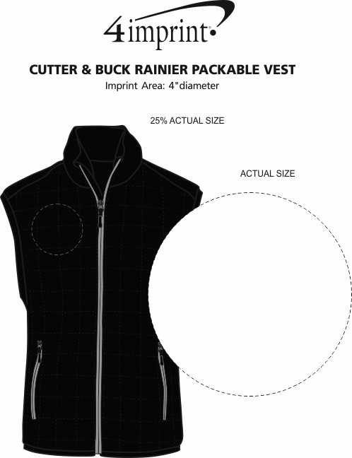 Imprint Area of Cutter & Buck Rainier Packable Vest - Men's
