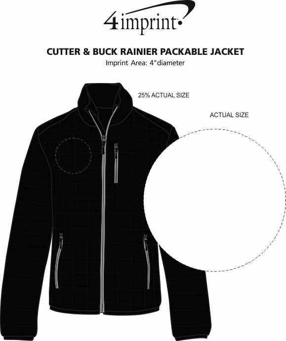 Imprint Area of Cutter & Buck Rainier Packable Jacket - Men's
