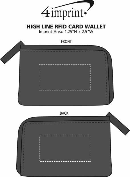 Imprint Area of High Line RFID Card Wallet