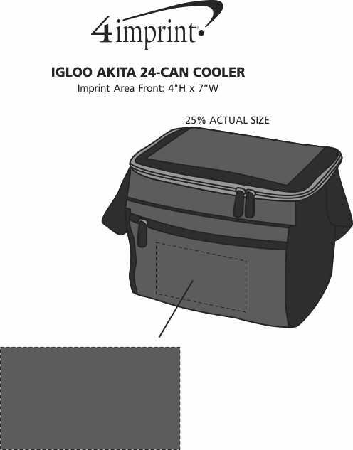 Imprint Area of Igloo Akita 24-Can Cooler