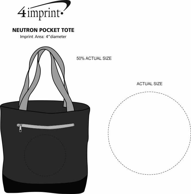 Imprint Area of Neutron Pocket Tote - Embroidered