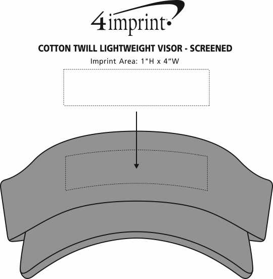 Imprint Area of Authentic Pigment Direct-Dyed Twill Visor
