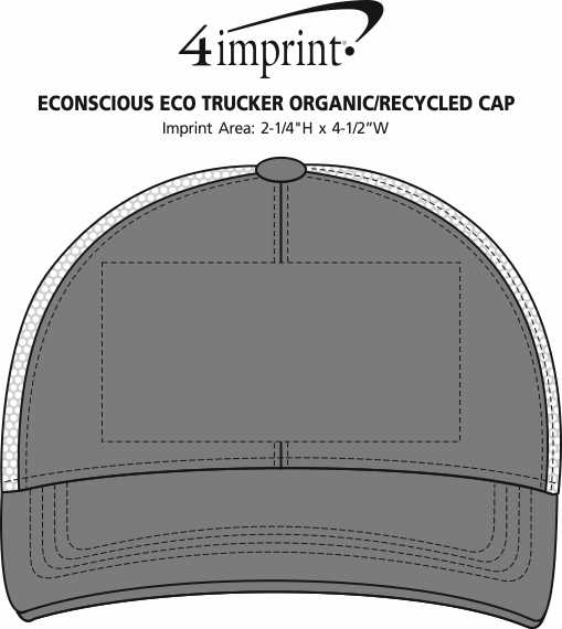 Imprint Area of Econscious Eco Trucker Organic/Recycled Cap