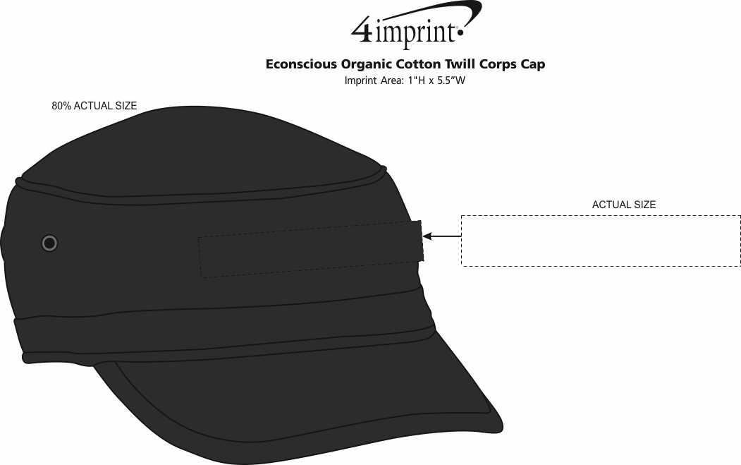 Imprint Area of Econscious Organic Cotton Twill Corps Cap