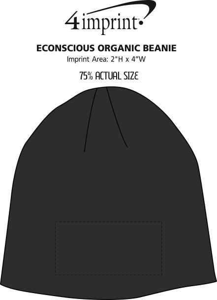Imprint Area of Econscious Organic Beanie