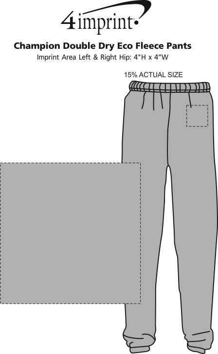 Imprint Area of Champion Double Dry Eco Fleece Pants