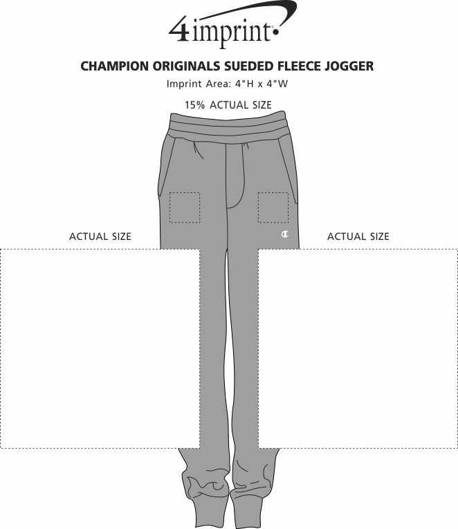 Imprint Area of Champion Originals Sueded Fleece Joggers