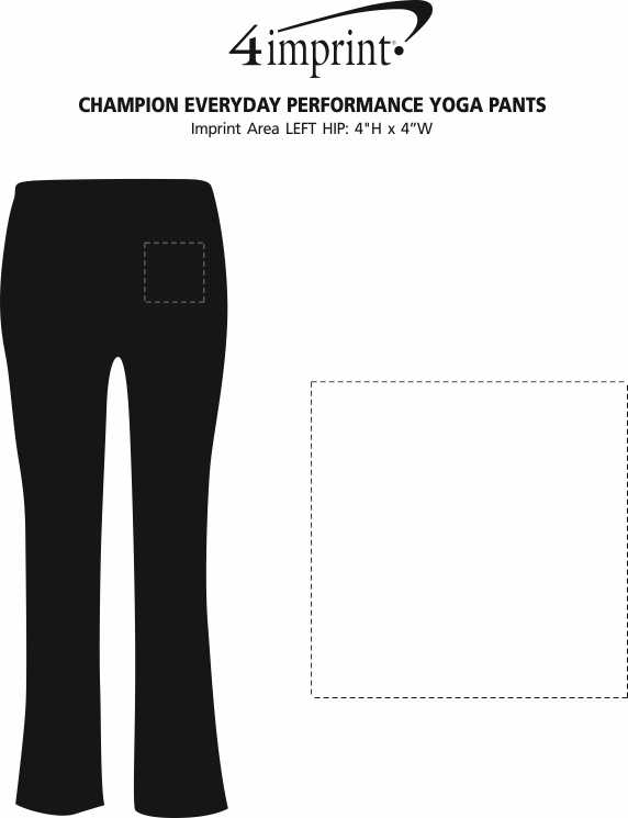 Imprint Area of Champion Everyday Performance Yoga Pants