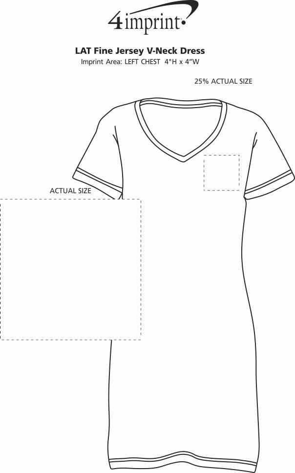 Imprint Area of LAT Fine Jersey V-Neck Dress