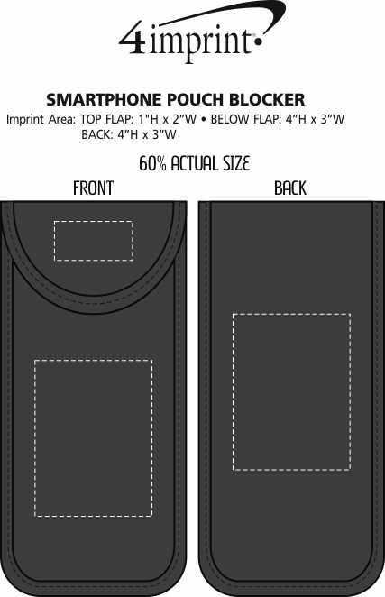 Imprint Area of Smartphone Pouch Blocker