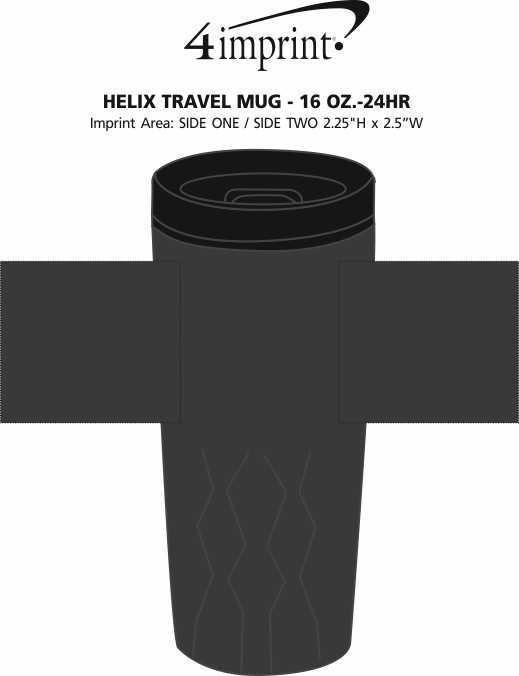 Imprint Area of Helix Travel Mug - 16 oz. - 24 hr
