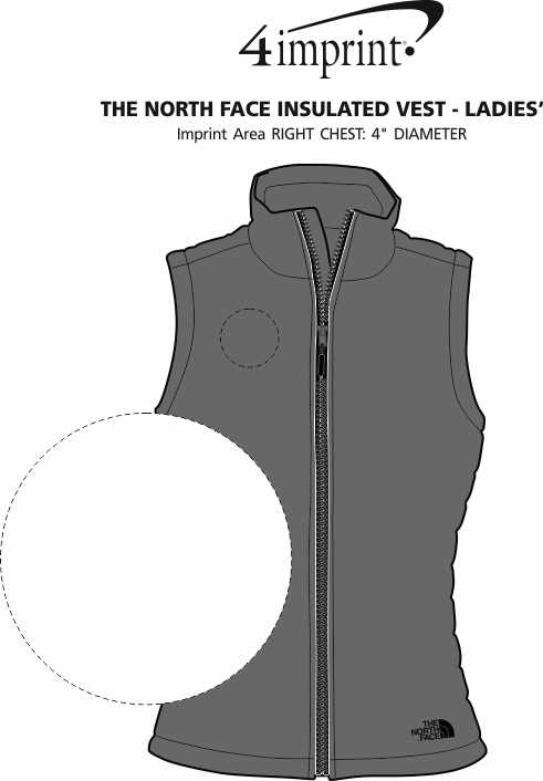 Imprint Area of The North Face Insulated Vest - Ladies'
