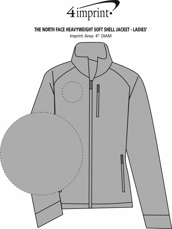 Imprint Area of The North Face Heavyweight Soft Shell Jacket - Ladies'