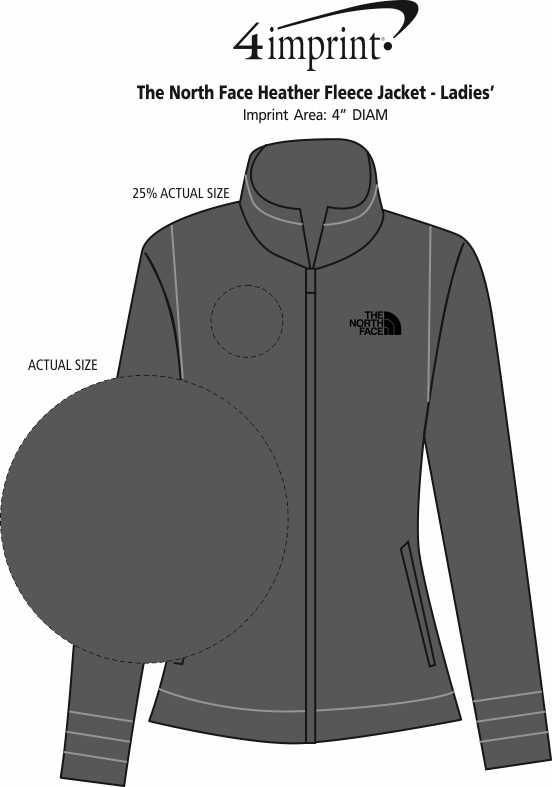 Imprint Area of The North Face Sweater Fleece Jacket - Ladies'