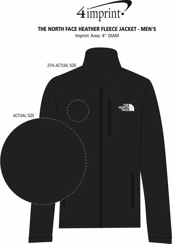 Imprint Area of The North Face Sweater Fleece Jacket - Men's
