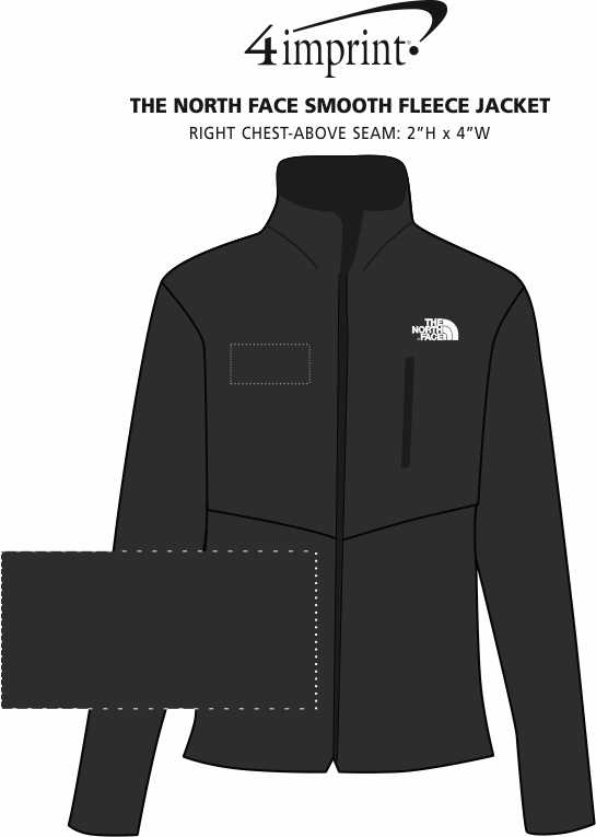 Imprint Area of The North Face Smooth Fleece Jacket