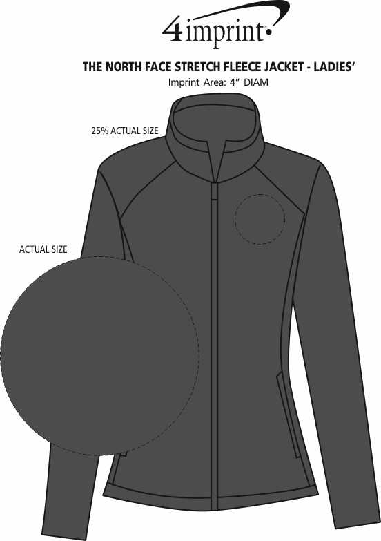 Imprint Area of The North Face Canyon Flats Fleece Jacket - Ladies'