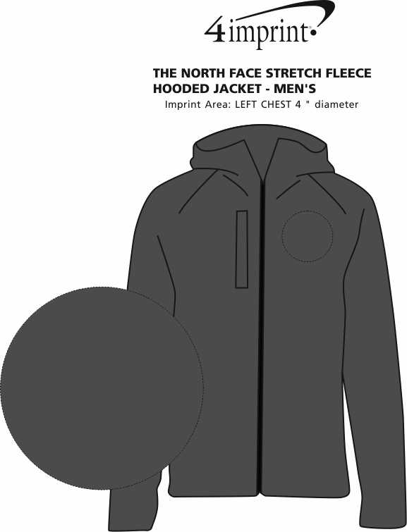 Imprint Area of The North Face Canyon Flats Fleece Hooded Jacket - Men's