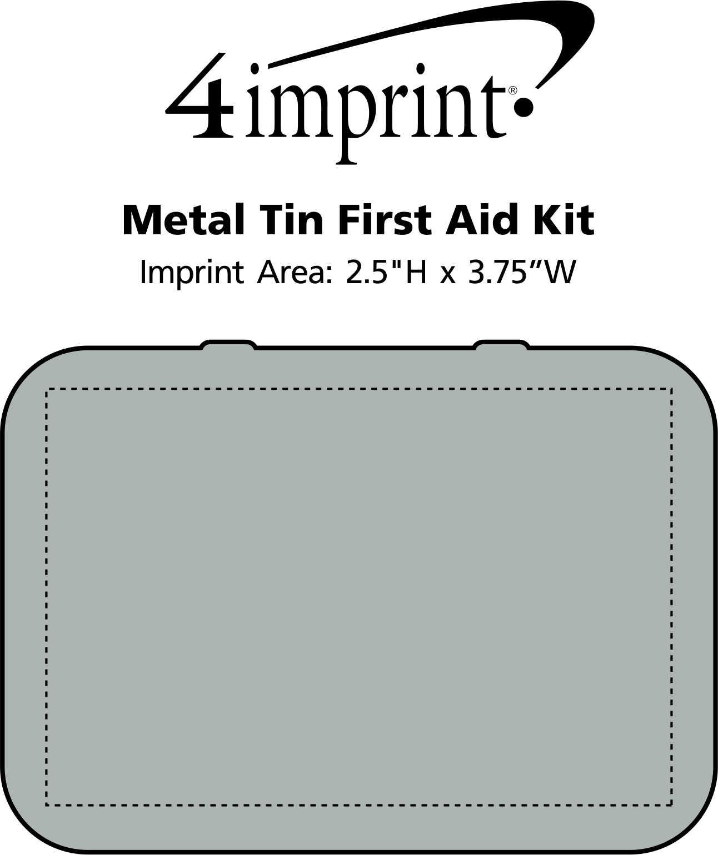 Imprint Area of Metal Tin First Aid Kit