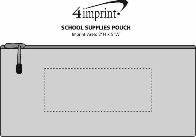 Imprint Area of School Supplies Pouch
