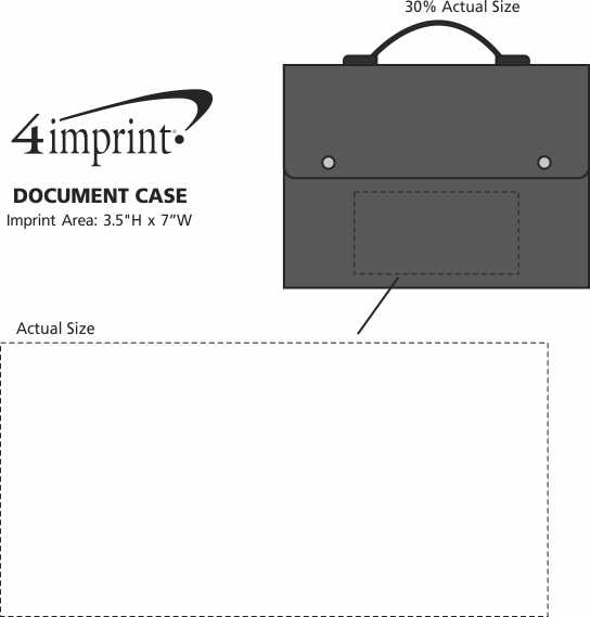 Imprint Area of Document Case