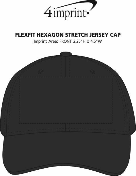 Imprint Area of Flexfit Hexagon Stretch Jersey Cap