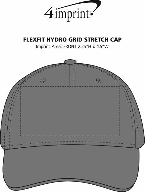 Imprint Area of Flexfit Hydro Grid Stretch Cap